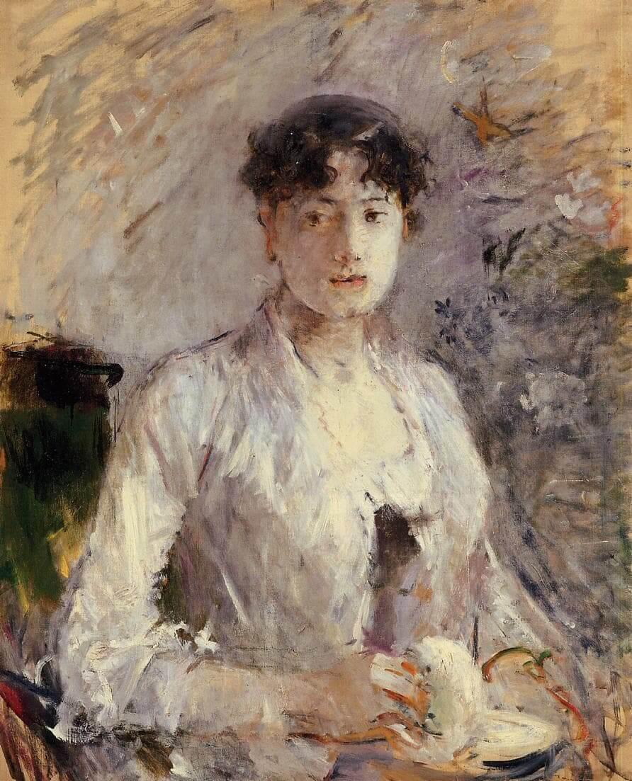 """""""Junge Frau in Mauve"""" von Berthe Morisot"""